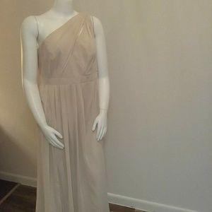 David's Bridal One-Shoulder Formal Dress Sz 18W